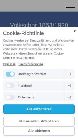 Vorschau der mobilen Webseite niedervellmarer-volkschor.jimdofree.com, Volkschor Niedervellmar