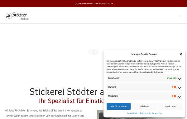 Vorschau von www.stickerei-stoedter.de, Stickerei Heinz Stödter