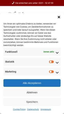 Vorschau der mobilen Webseite www.stickerei-stoedter.de, Stickerei Heinz Stödter