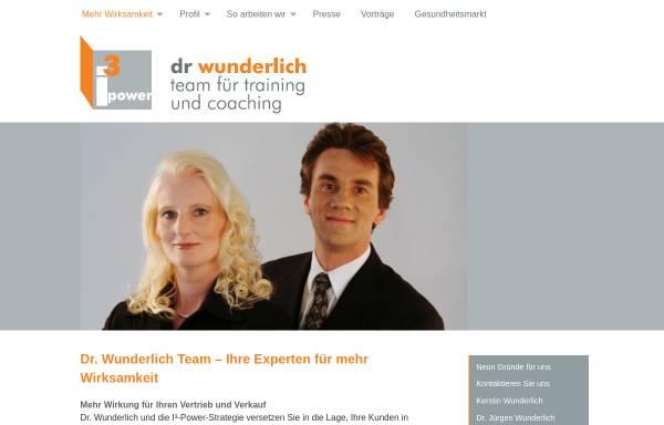 Vorschau von www.dr-wunderlich-team.de, Dr. Wunderlich, Team für Training und Coaching - Dr. Jürgen Wunderlich und Kerstin Wunderlich