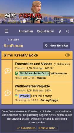 Vorschau der mobilen Webseite www.simplaza.de, SimPlaza