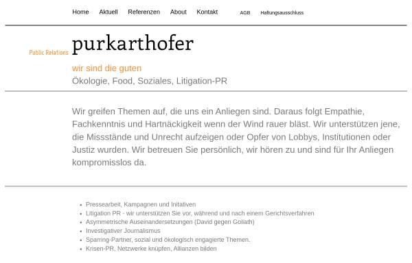 Vorschau von www.purkarthofer-pr.at, Mag. Franz-Jakob Purkarthofer, Werbeagentur