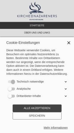 Vorschau der mobilen Webseite www.lydia-gemeinde-berlin.de, Lydia-Gemeinde Berlin-Rudow