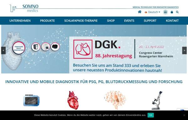 Vorschau von www.somnomedics.de, Somnomedics GmbH & Co. KG