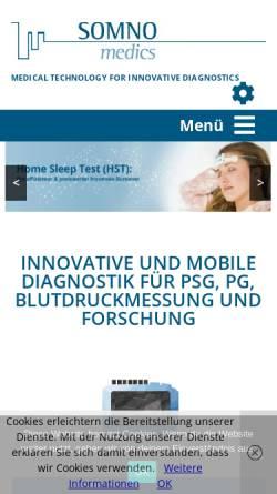 Vorschau der mobilen Webseite www.somnomedics.de, Somnomedics GmbH & Co. KG