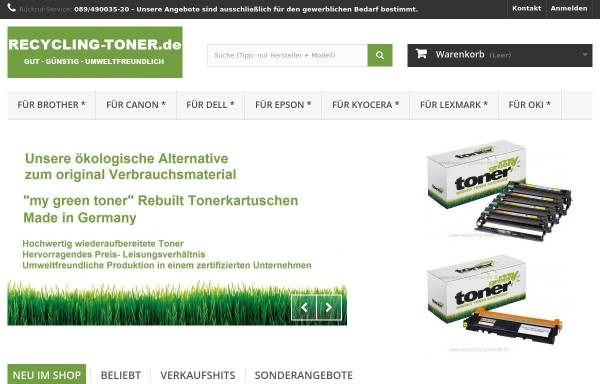 Vorschau von www.recycling-toner.de, Bürotechnik Thomas Vogel