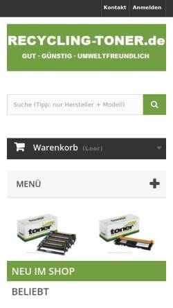 Vorschau der mobilen Webseite www.recycling-toner.de, Bürotechnik Thomas Vogel