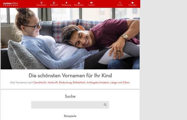Vorschau von www.vornamen.ch, Namenstag der Heiligen