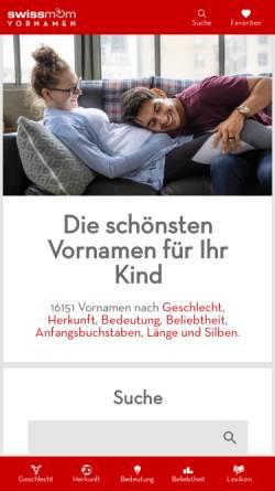 Vorschau der mobilen Webseite www.vornamen.ch, Namenstag der Heiligen