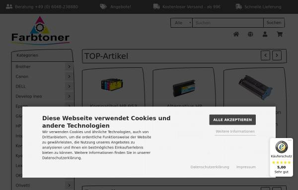 Vorschau von farbtoner.com, Farbtoner.com GmbH