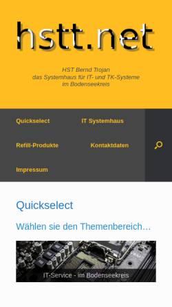 Vorschau der mobilen Webseite www.hstt.net, HST Bernd Trojan