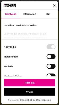 Vorschau der mobilen Webseite www.inkclub.com, InkClub