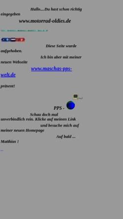 Vorschau der mobilen Webseite www.motorrad-oldies.de, Interessengemeinschaft Motorrad-Oldies-Weisweiler