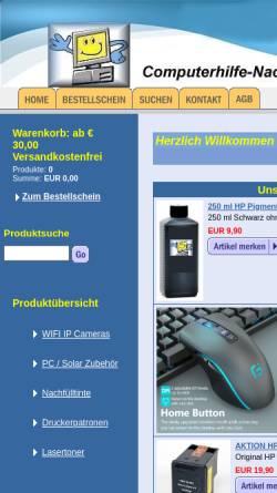 Vorschau der mobilen Webseite www.computerhilfe-nachfuelltinte.at, Nachfülltinte Harg Helmut