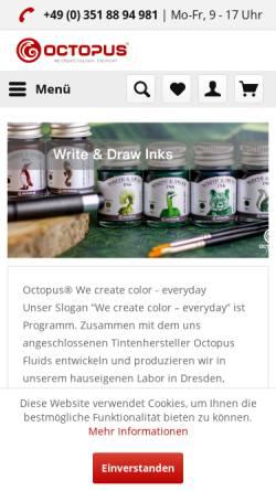 Vorschau der mobilen Webseite www.octopus-office.de, Octopus Concept GmbH