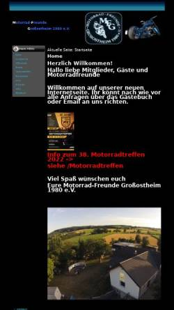 Vorschau der mobilen Webseite www.mfgrossostheim.de, Motorradfreunde Grossostheim