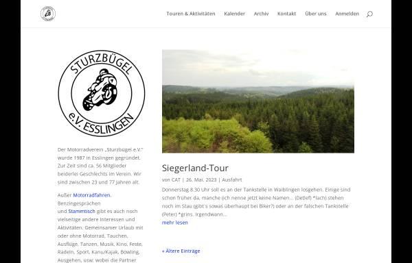 Vorschau von www.sturzbuegel.de, Motorradverein Sturzbügel e.V. Esslingen am Neckar