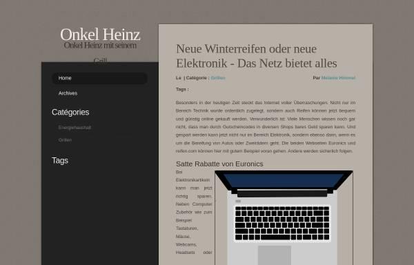 Vorschau von www.onkelheinz.de, Onkel Heinz Hobbyseiten