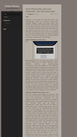 Vorschau der mobilen Webseite www.onkelheinz.de, Onkel Heinz Hobbyseiten