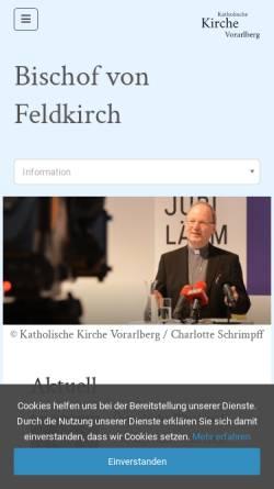 Vorschau der mobilen Webseite www.kath-kirche-vorarlberg.at, Fischer, Elmar
