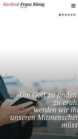 Vorschau der mobilen Webseite www.kardinalkoenig.at, König, Franz