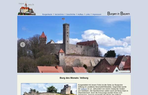 Vorschau von www.burgenseite.de, Burgenseite: Burgen der Oberpfalz