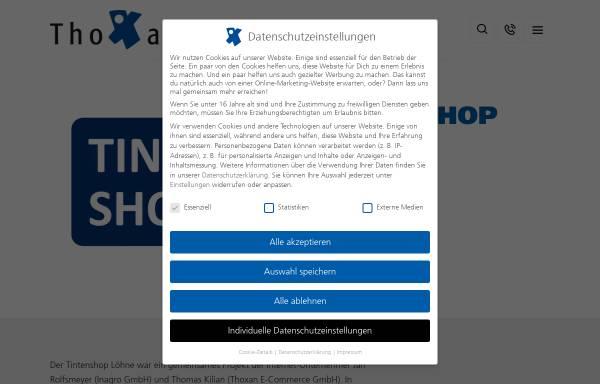 Vorschau von www.tintenshop-loehne.de, Tintenshop GmbH
