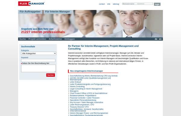 Vorschau von www.interimconnection.de, Interim Connection, Flexmanagement GmbH