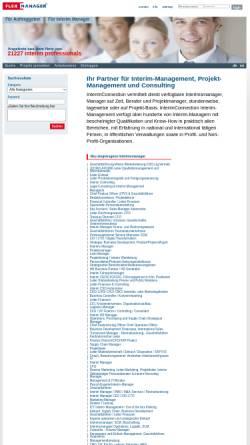 Vorschau der mobilen Webseite www.interimconnection.de, Interim Connection, Flexmanagement GmbH