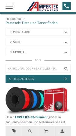 Vorschau der mobilen Webseite www.ampertec.de, Rudolf Wiegand und Partner GmbH