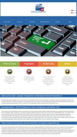 Vorschau der mobilen Webseite www.tintenoffice.ch, TO Group GmbH