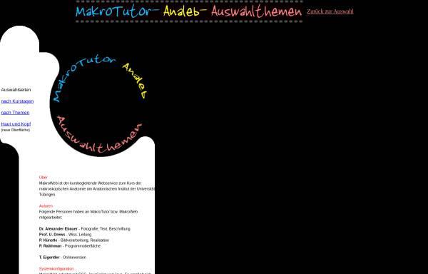 Vorschau von www.anatomie.uni-tuebingen.de, MakroTutor