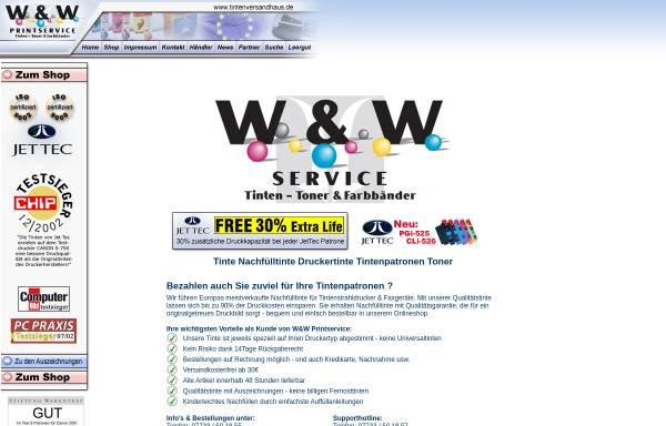 Vorschau von www.tintenversandhaus.de, W&W Service UG, Inh. Ramona Wichtrey