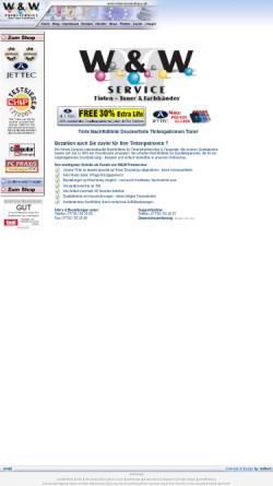 Vorschau der mobilen Webseite www.tintenversandhaus.de, W&W Service UG, Inh. Ramona Wichtrey
