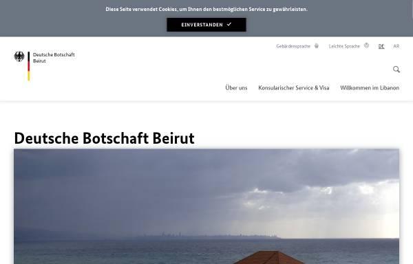 Vorschau von www.beirut.diplo.de, Deutsche Botschaft Beirut