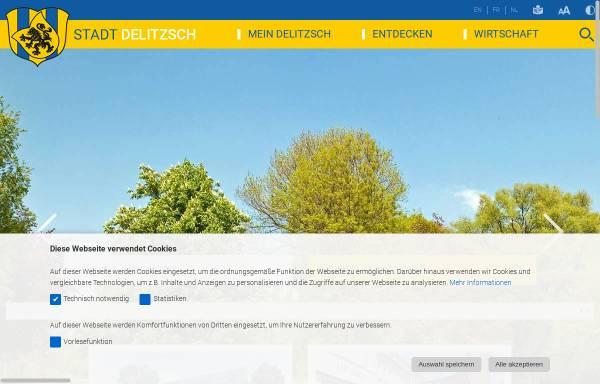 Vorschau von www.stadt-delitzsch.de, Delitzsch