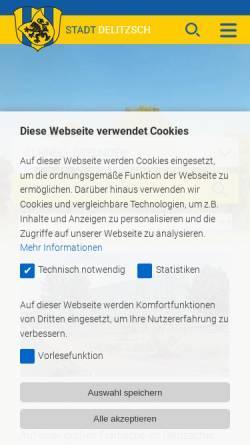 Vorschau der mobilen Webseite www.stadt-delitzsch.de, Delitzsch