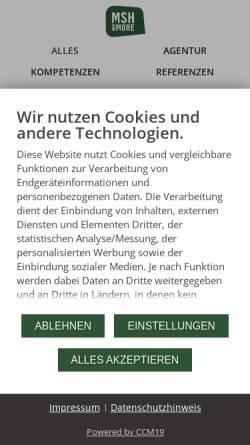 Vorschau der mobilen Webseite msh.net, MSH and More Werbeagentur GmbH