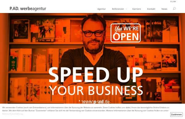Vorschau von www.p-ad.de, P.AD. Werbeagentur GmbH