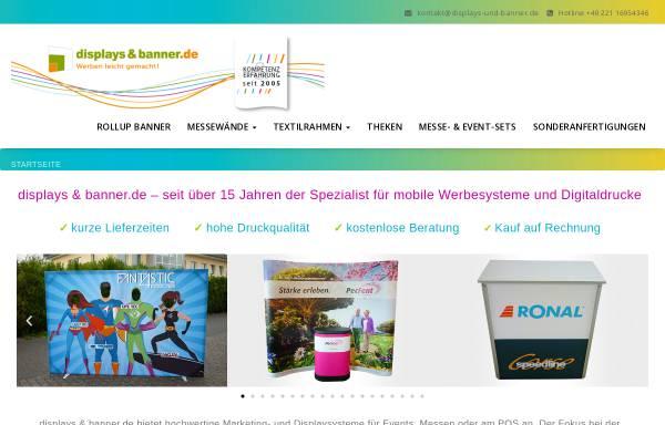 Vorschau von www.displays-und-banner.de, Sami:sign media GmbH