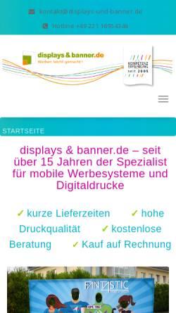 Vorschau der mobilen Webseite www.displays-und-banner.de, Sami:sign media GmbH