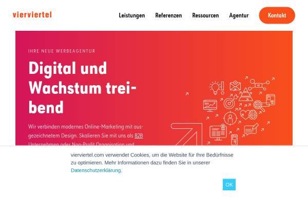 Vorschau von www.vierviertel.com, Vierviertel – Agentur für Kommunikationsdesign GmbH