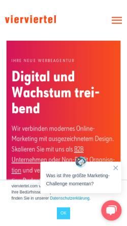 Vorschau der mobilen Webseite www.vierviertel.com, Vierviertel – Agentur für Kommunikationsdesign GmbH