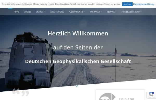 Vorschau von www.dgg-online.de, Deutsche Geophysikalische Gesellschaft e.V. (DGG)