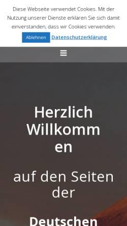 Vorschau der mobilen Webseite www.dgg-online.de, Deutsche Geophysikalische Gesellschaft e.V. (DGG)