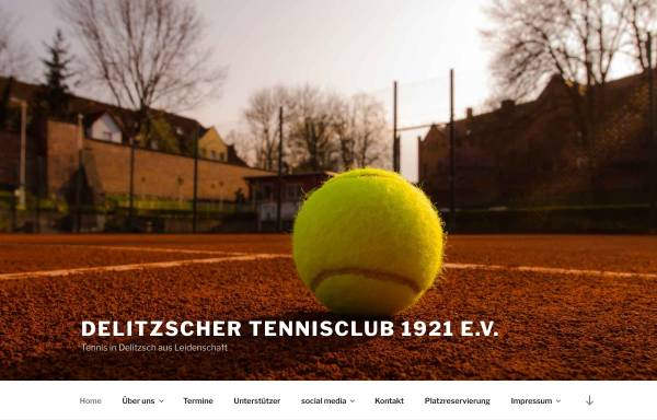 Vorschau von delitzscher-tc.de, Delitzscher Tennisclub 1921 e.V.