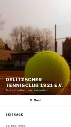 Vorschau der mobilen Webseite delitzscher-tc.de, Delitzscher Tennisclub 1921 e.V.