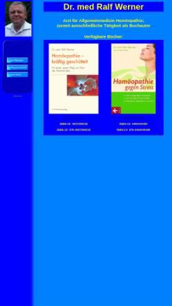 Vorschau der mobilen Webseite www.homoeopathieweb.de, Dr. Ralf Werner