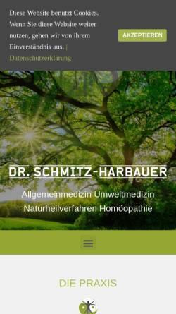 Vorschau der mobilen Webseite www.praxis-schmitz-harbauer.de, Praxis Dr. med. Wolfgang Schmitz-Harbauer