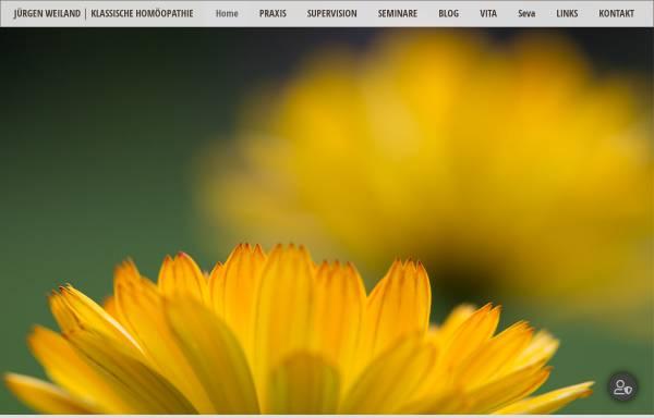 Vorschau von www.juergen-weiland.de, Zentrum für Homöopathie und Geburtshilfe